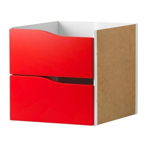 kallax einsatz mit 2 schubladen rot ikea. Black Bedroom Furniture Sets. Home Design Ideas
