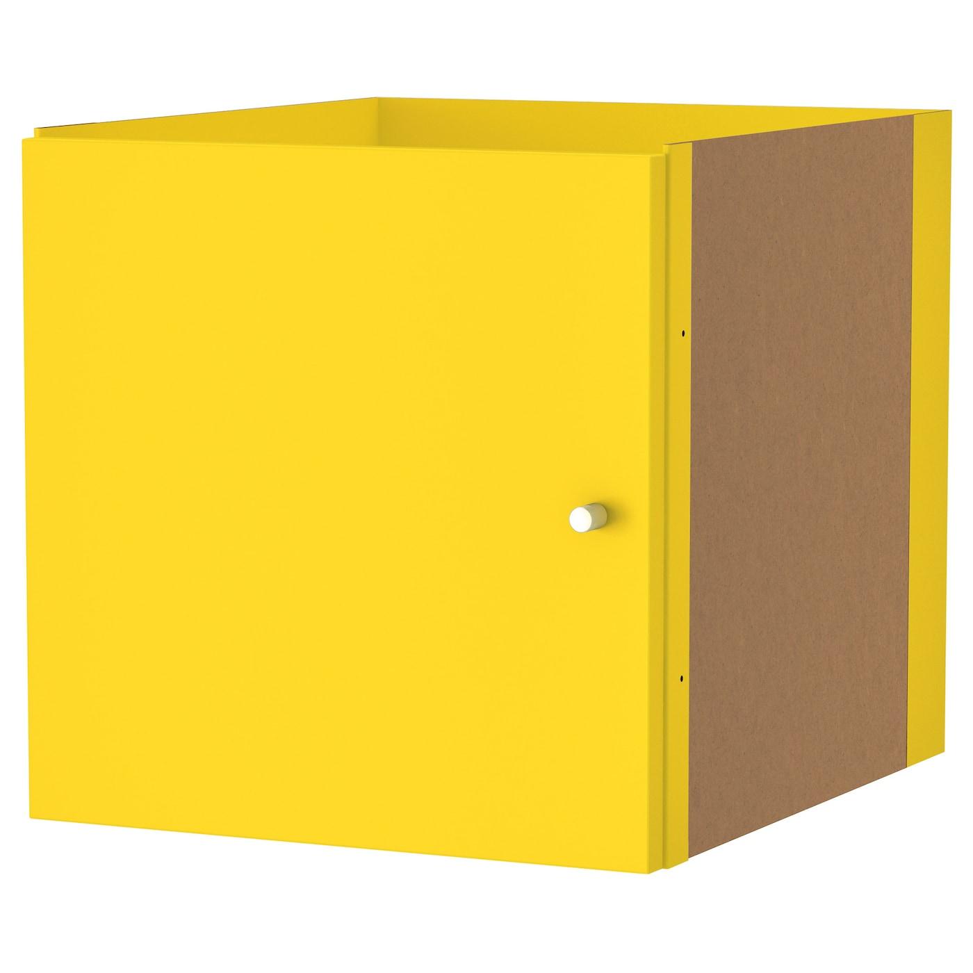 KALLAX, Einsatz mit Tür, gelb 203.233.82