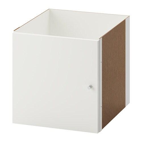 Kallax Einsatz Mit Tür Hochglanz Weiß Ikea