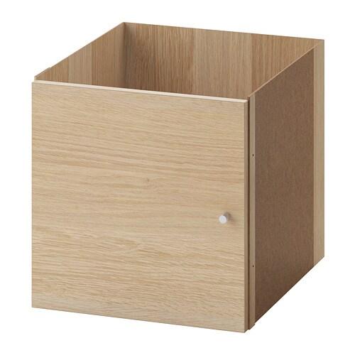 kallax einsatz mit t r eicheneffekt wei lasiert ikea. Black Bedroom Furniture Sets. Home Design Ideas