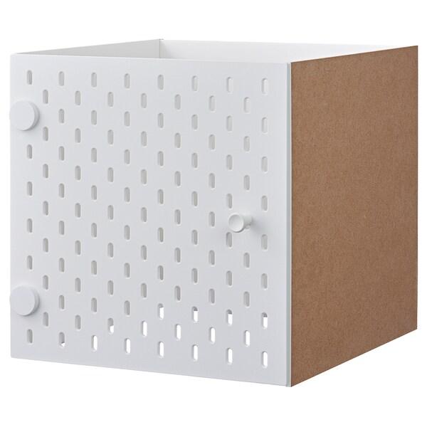 KALLAX Regaleinsatz mit Lochplatte weiß 33 cm 37 cm 33 cm