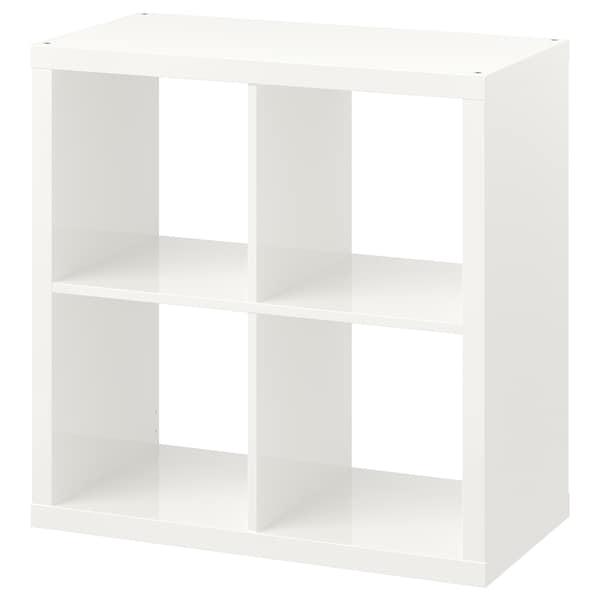 KALLAX Regal, Hochglanz weiß, 77x77 cm