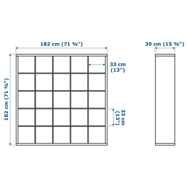 KALLAX Regal mit 10 Einsätzen, weiß, 182x182 cm