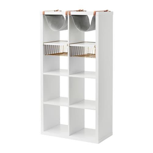 Ikea regal kallax  KALLAX Regal mit 4 Einsätzen - IKEA