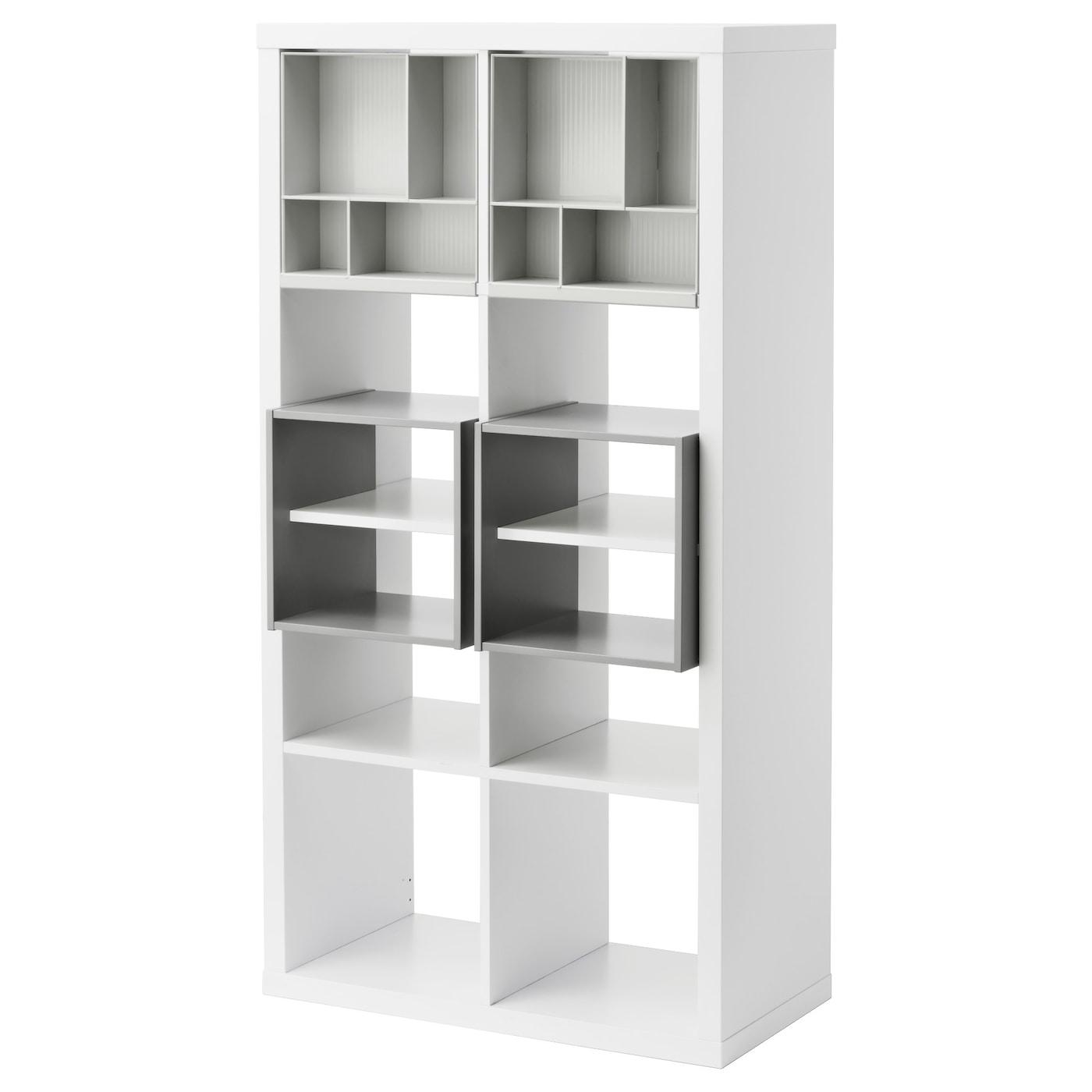Regal Ikea kallax regal mit 4 einsätzen weiß ikea