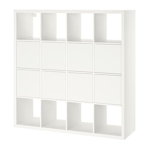 kallax regal mit 8 eins tzen wei ikea. Black Bedroom Furniture Sets. Home Design Ideas