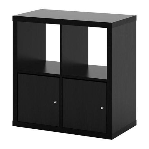 kallax regal mit t ren schwarzbraun ikea. Black Bedroom Furniture Sets. Home Design Ideas
