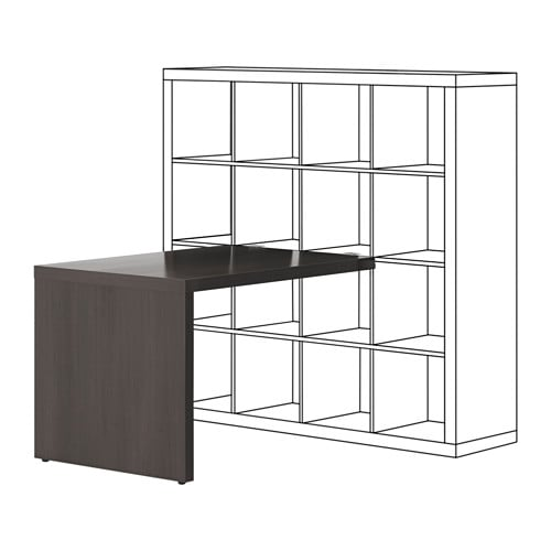 kallax schreibtisch schwarzbraun ikea. Black Bedroom Furniture Sets. Home Design Ideas