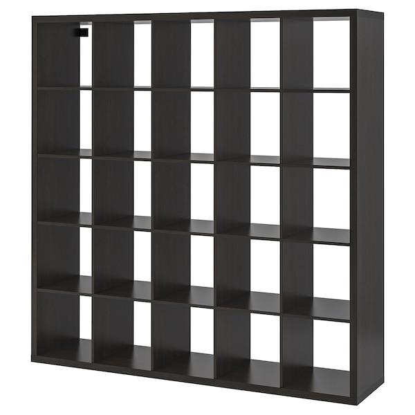 KALLAX Regal mit 10 Einsätzen schwarzbraun IKEA Deutschland