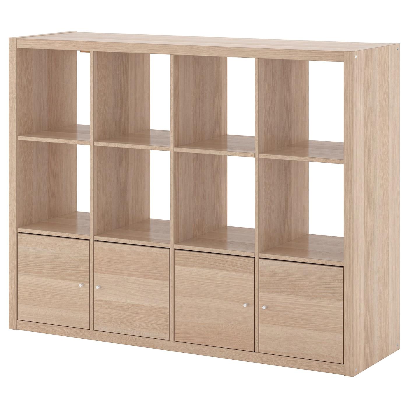 KALLAX Regal mit 10 Einsätzen Eicheneff wlas IKEA