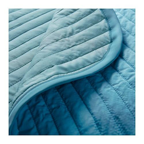 Ikea karit bedspread 1 pillowcase turquoise 180x280 cm for Ikea tagesdecke
