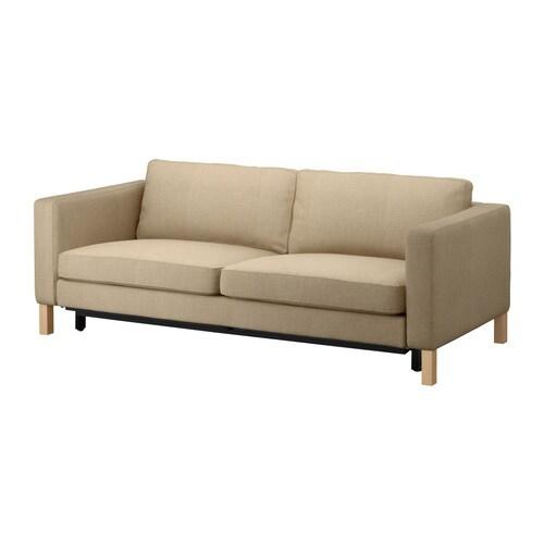 karlstad bezug 3er bettsofa lind beige ikea. Black Bedroom Furniture Sets. Home Design Ideas