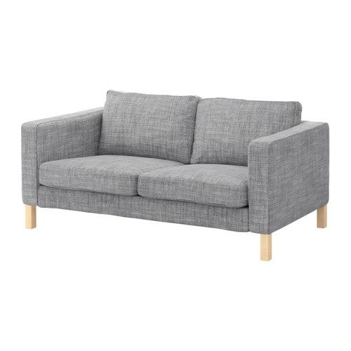 karlstad bezug 2er sofa isunda grau ikea. Black Bedroom Furniture Sets. Home Design Ideas