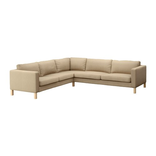 karlstad bezug f r ecksofa 2 3 3 2 lind beige ikea. Black Bedroom Furniture Sets. Home Design Ideas
