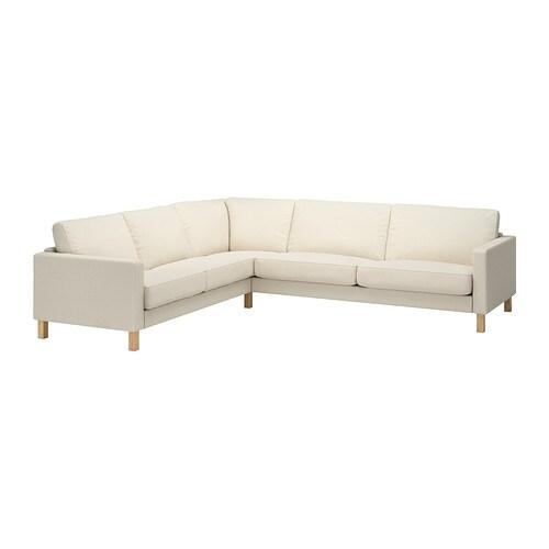 karlstad bezug f r ecksofa 2 3 3 2 isefall natur ikea. Black Bedroom Furniture Sets. Home Design Ideas