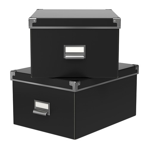 ikea kassett box schwarz matt din a4 kasten karton. Black Bedroom Furniture Sets. Home Design Ideas