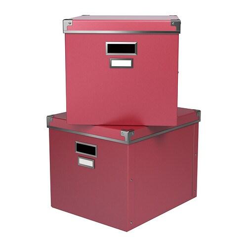 ikea kassett box mit deckel pink aufbewahrung schachtel aufbewahrungsbox expedit ebay. Black Bedroom Furniture Sets. Home Design Ideas