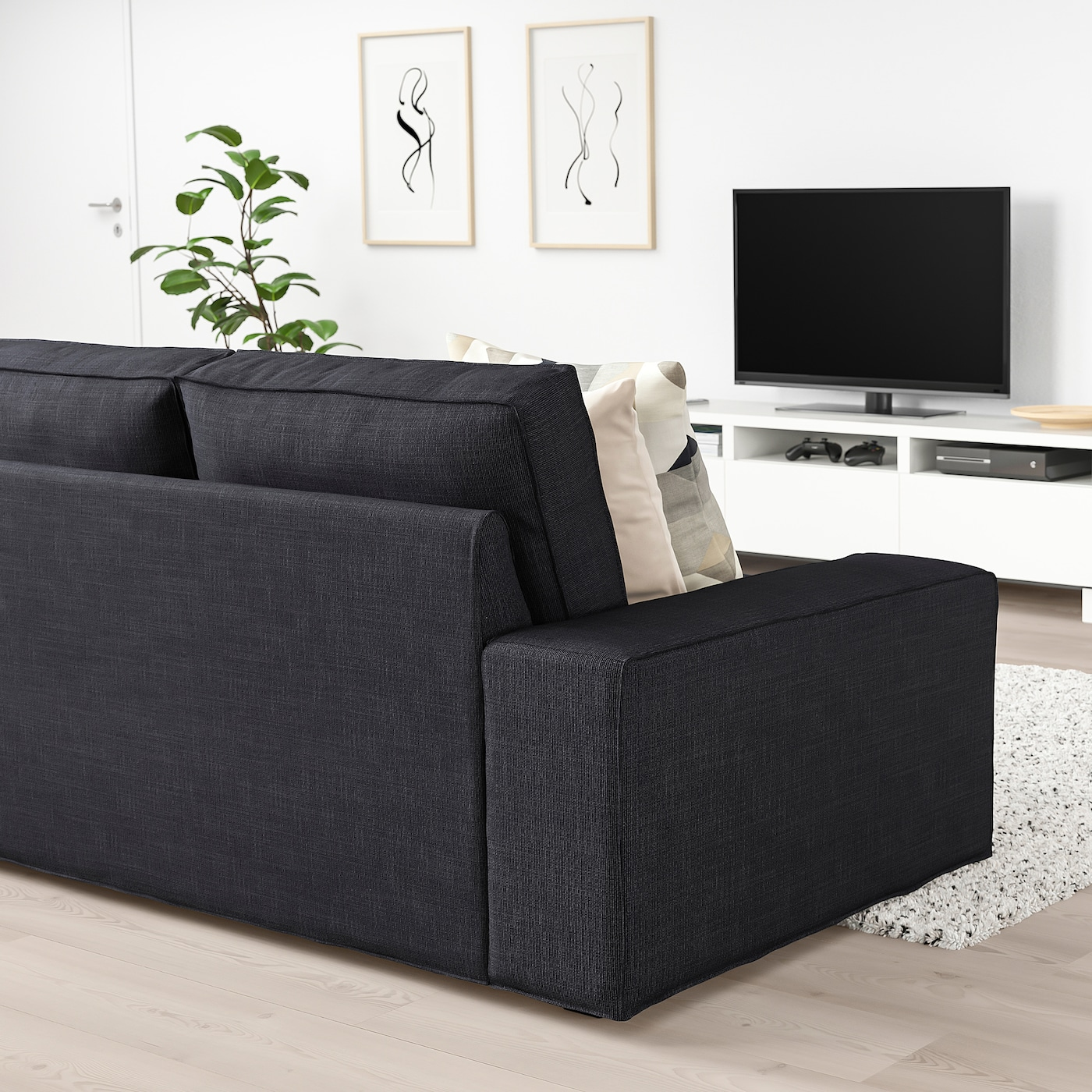 Kivik 2er Sofa Hillared Anthrazit Ikea Deutschland