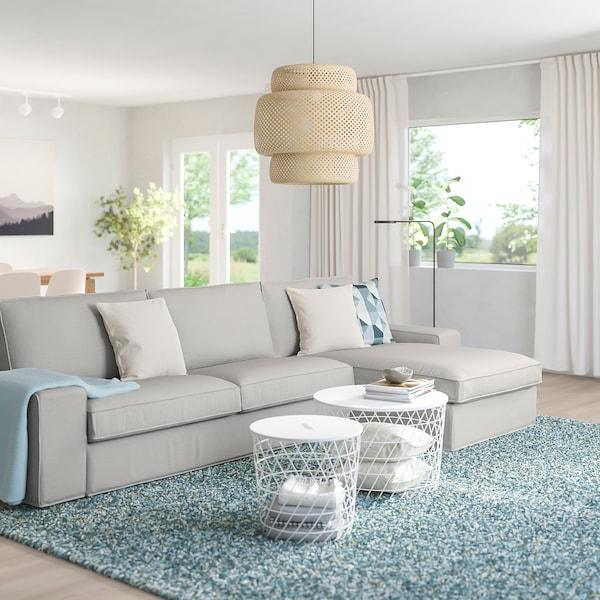 KIVIK 4er-Sofa, mit Récamiere/Orrsta hellgrau