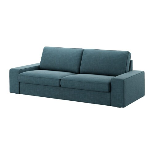 kivik bezug 3er sofa hillared dunkelblau ikea. Black Bedroom Furniture Sets. Home Design Ideas