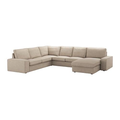 kivik ecksofa 5 sitzig hillared beige ikea. Black Bedroom Furniture Sets. Home Design Ideas