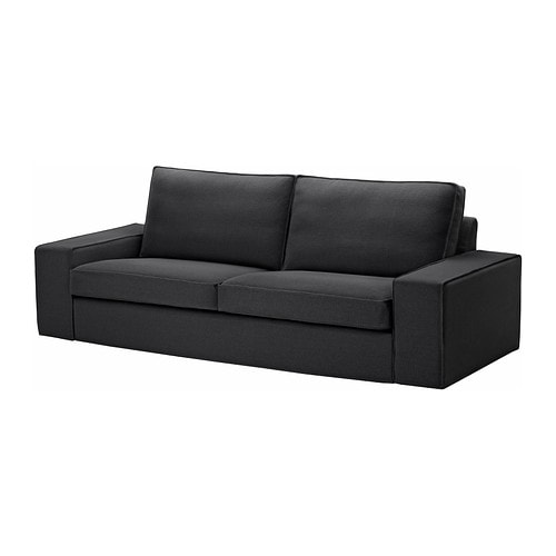 kivik 3er sofa repl sa schwarz ikea. Black Bedroom Furniture Sets. Home Design Ideas