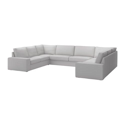 Kivik Sofa U Form 7 Sitzig 9 Platze Orrsta Hellgrau Ikea