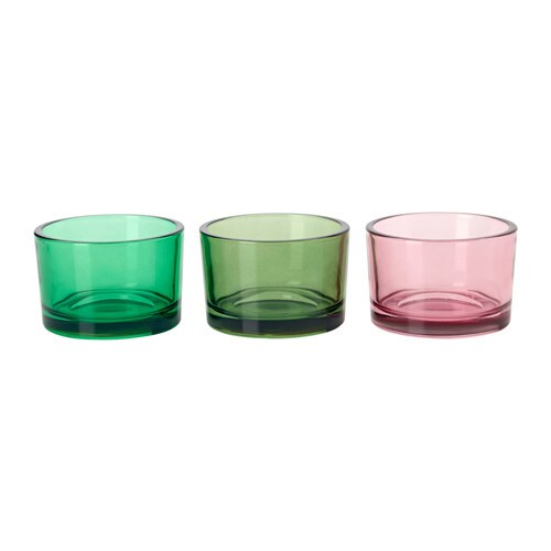 Klarhet teelichthalter ikea for Teelichthalter glas bunt