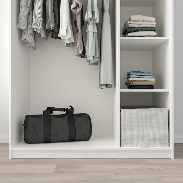 KLEPPSTAD Kleiderschrank mit 3 Türen weiß 117 cm 55 cm 176 cm