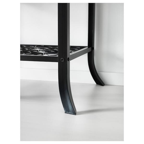 KLINGSBO Vitrine, schwarz/Klarglas, 45x180 cm