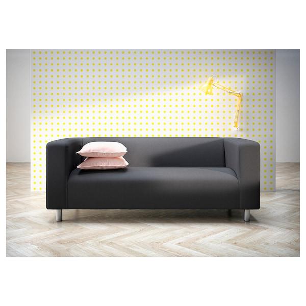 Astounding 2Er Sofa Klippan Kabusa Dunkelgrau Bralicious Painted Fabric Chair Ideas Braliciousco