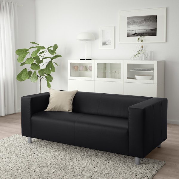 KLIPPAN 2er-Sofa, Bomstad schwarz