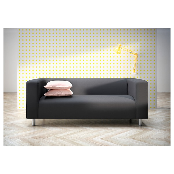 KLIPPAN 2er-Sofa, Kabusa dunkelgrau