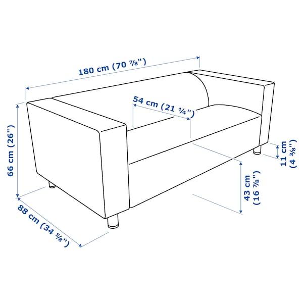 KLIPPAN 2er-Sofa, Vissle grau