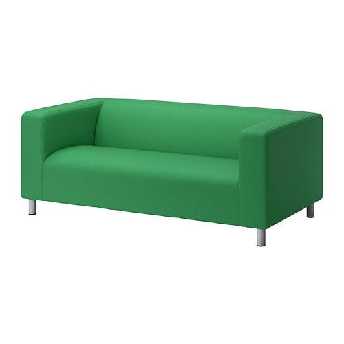 klippan bezug 2er sofa vissle gr n ikea. Black Bedroom Furniture Sets. Home Design Ideas