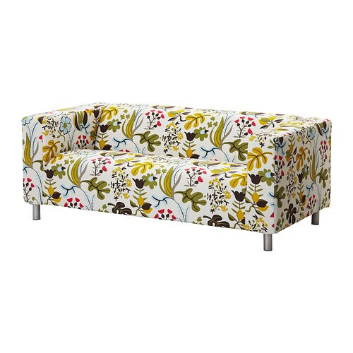 klippan bezug 2er sofa blomsterm la bunt ikea. Black Bedroom Furniture Sets. Home Design Ideas
