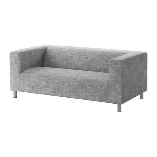 klippan bezug 2er sofa isunda grau ikea. Black Bedroom Furniture Sets. Home Design Ideas