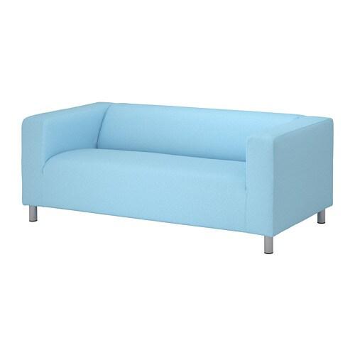 Klippan 2er Sofa Vissle Hellblau Ikea