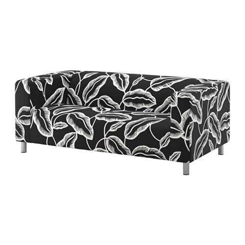 klippan 2er sofa avsiktlig wei schwarz ikea. Black Bedroom Furniture Sets. Home Design Ideas