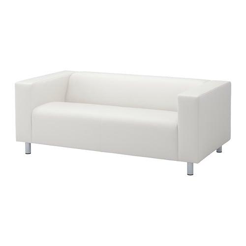 Klippan 2er Sofa Bomstad Weiß Ikea