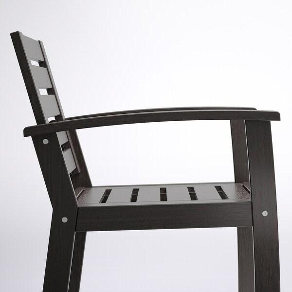 KLÖVEN Armlehnstuhl/außen, schwarzbraun