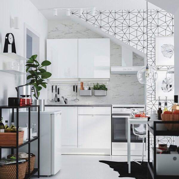 Küche KNOXHULT Hochglanz weiß