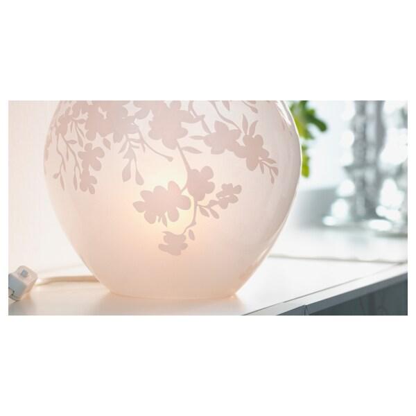 KNUBBIG Tischleuchte, Kirschblüten weiß, 18 cm