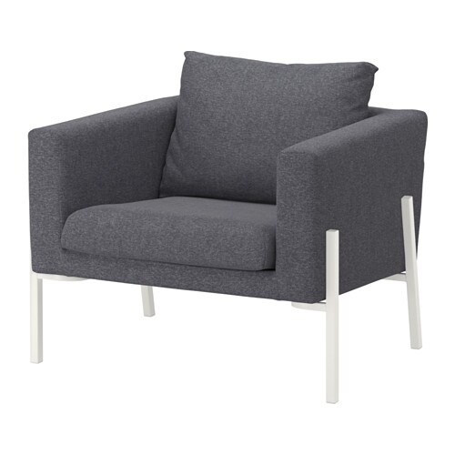 koarp sessel gunnared mittelgrau wei ikea. Black Bedroom Furniture Sets. Home Design Ideas