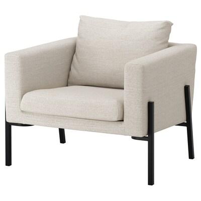 KOARP Sessel, Gunnared beige/schwarz