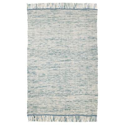 KÖPENHAMN Teppich flach gewebt, Handarbeit blaugrün, 133x195 cm