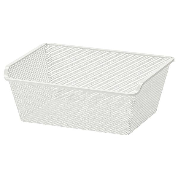 KOMPLEMENT Netzdrahtkorb, weiß, 50x35 cm