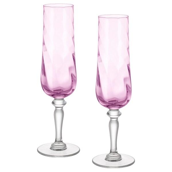 KONUNGSLIG Sektglas, rosa, 26 cl