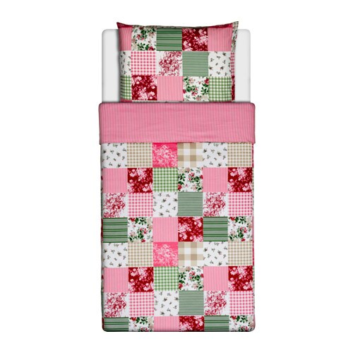 ikea krakb r draps literie 140x200 cm set de linge de lit fleur fleurs 2 pcs ebay. Black Bedroom Furniture Sets. Home Design Ideas