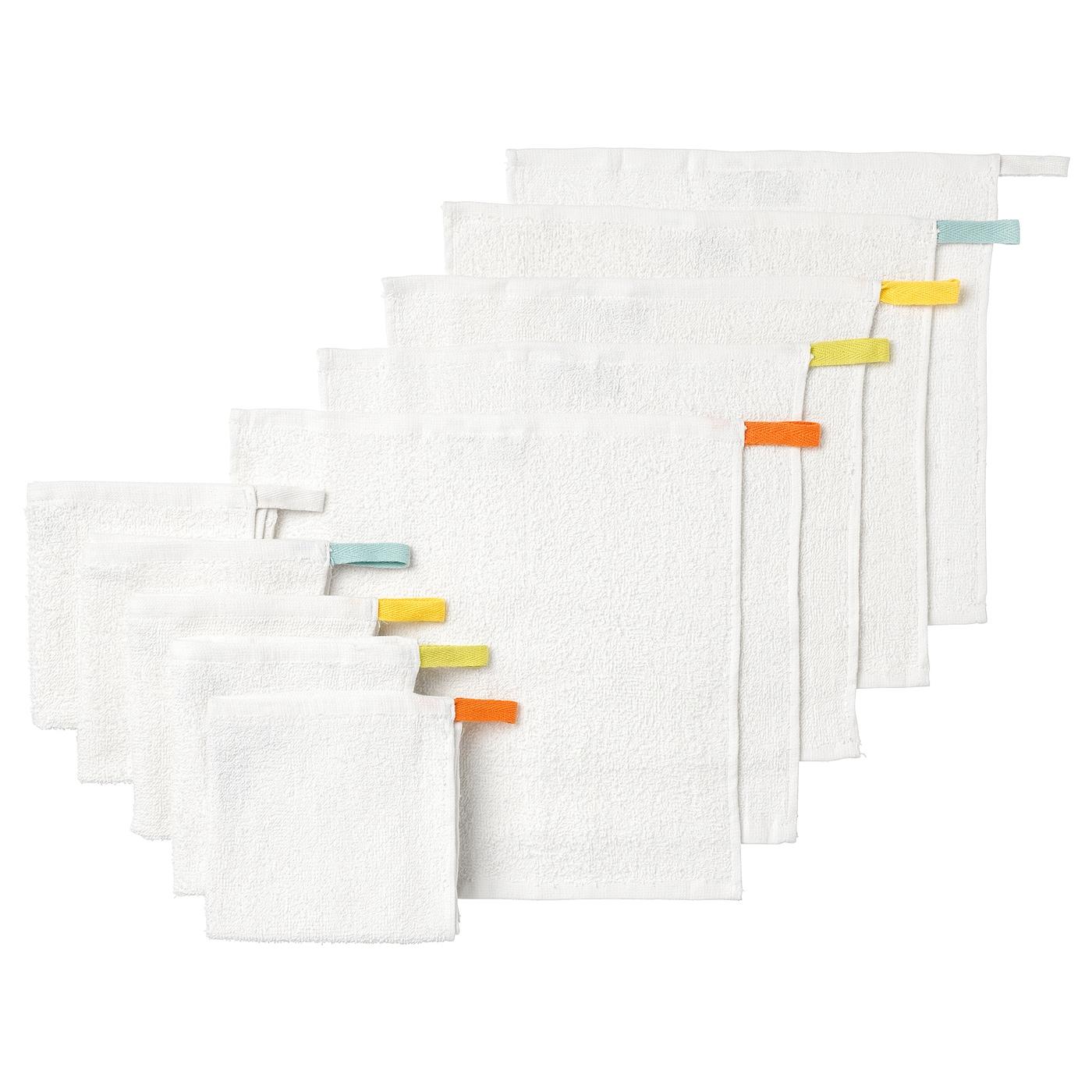 Baby /& Kinder Weiß 10 Stück Mull Waschlappen Waschhandschuh Baumwolltücher Set